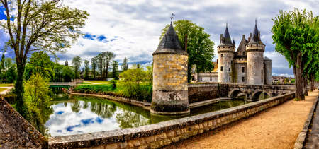 Travel and landmarks of France. medieval castle - Sully-sur-Loire, famous Loire valley Editöryel