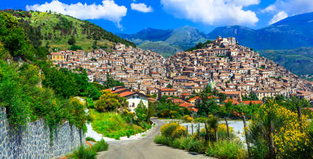 Italy travel. One ofthe most beautiful medieval villages (borgo) of Calabria - Morano Calabro