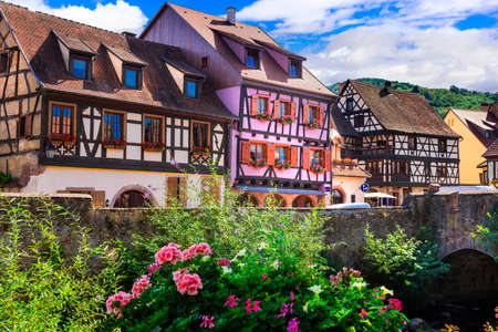 Travel in France.  Alsace region- famous