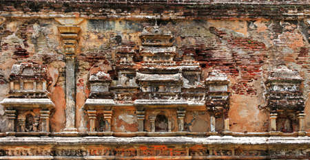 Sri Lanka travel and landmarks -   Polonnaruwa. carved wall of ancient city Stock fotó