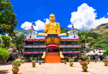 Dambulla cave temple also known as the Golden Temple of Dambulla