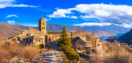 Typical beautiful villages of Spain - Ainsa Sobrarbe ,Huesca province, Pirenei mountains Stock fotó