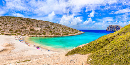 beautiful beaches of Greece - Astypalea island, Kounoupa . Dodecanese