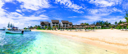 Tropical exotic holidays - Mauritius, Blue Bay in south of the island, view of luxury resort