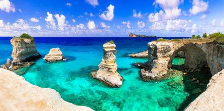 Beautiful sea scenery in Puglia. Italy.