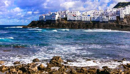 Beautiful coastal village El Roque en El Pagador de Moya in Grand Canary.