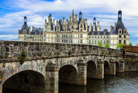 Chambord castle -  masterpiece of Renaissance architecture. Famous Loire valley in France Publikacyjne