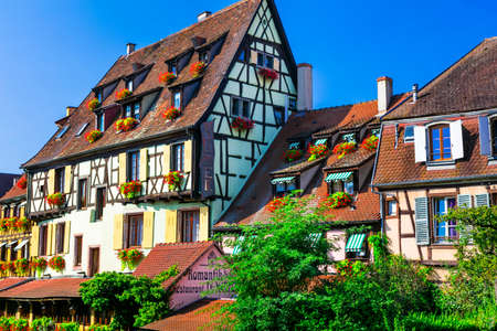 France travel.  Colmar in Alsace. Most beautiful and colourful towns.. September 2016