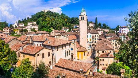 Most beautiful medieval villages (borgo) of Italy  - Asolo in Veneto region