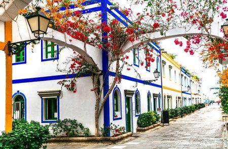 Charming floral streets of Puerto de Mogan in Gran Canaria (Grand Canary), Canary islands Publikacyjne