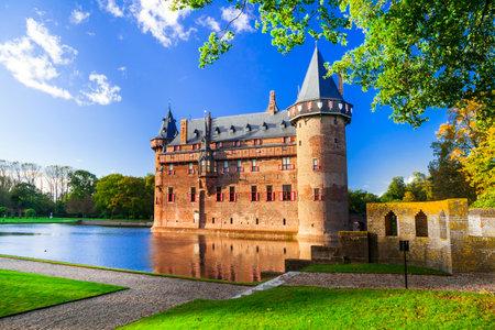 Most beautiful medieval castles of Europe - De Haar in Holland, Utrecht town, Netherlands