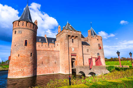 Medieval castles of Netherland - Muiden near Utrecht town, Holland Publikacyjne