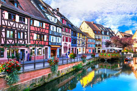 France travel. Most beautiful and colourful towns. Colmar in Alsace region. September 2016