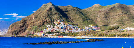 Best places of Tenerife -  Las Teresitas with scenic San Andres village. Canary islands of Spain