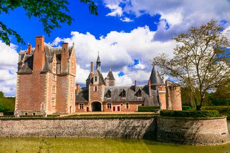 Romantic beautiful castles of Loire valley - chateau du Moulin. France