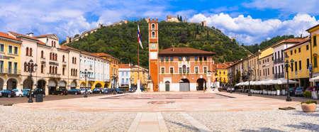 Marostica - beautiful medieval town (borgo), calling Chess village. Veneto region, northern Italy. 23.08.2019 Publikacyjne