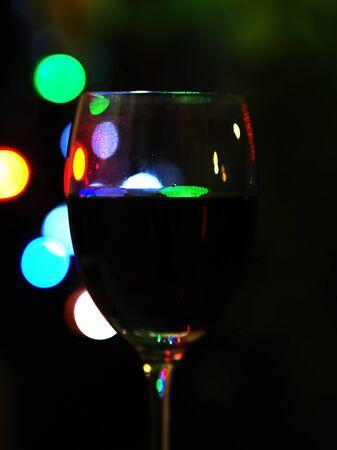 red rose bokeh: Red wine on bokeh