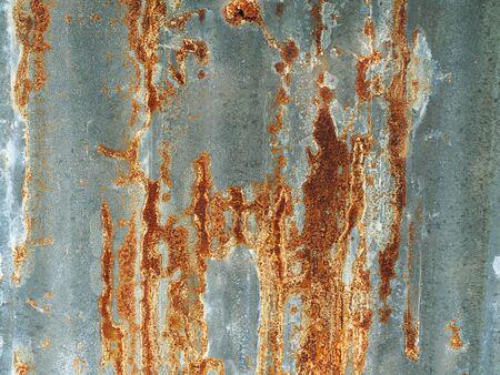 Old rusty galvanized