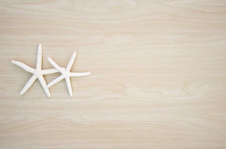 star fish: Star fish on wooden background Stock Photo