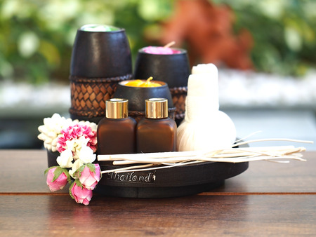 Spa massage and treatment , Thailand, select and soft focus Stock Photo