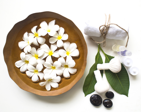 revitalize: Spa massage and treatment , Thailand, select and soft focus Stock Photo