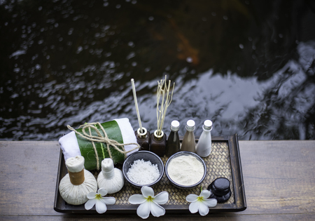 Spa scrub treatment and massage, Thailand, soft and select focus