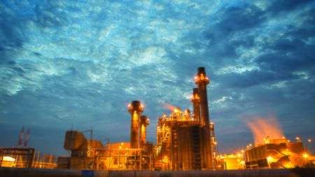 petrochemical plant: Petrochemical plant at twilight