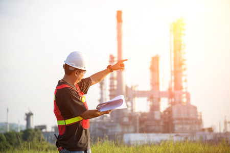 The man engineer at power plant, Thailand Stock Photo