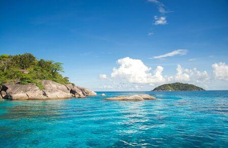 snorkelers: Similan islands in Andaman sea, Thailand
