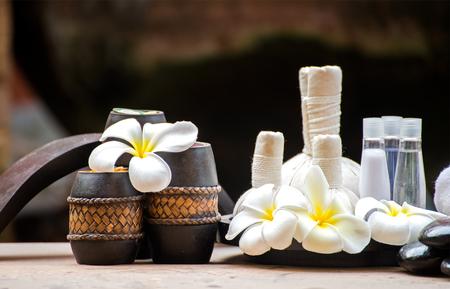 compress: Spa massage compress balls, herbal ball and treatment  spa, Thailand, select focus