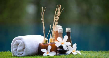 compress: Spa scrub treatment and massage, Thailand, soft and select focus
