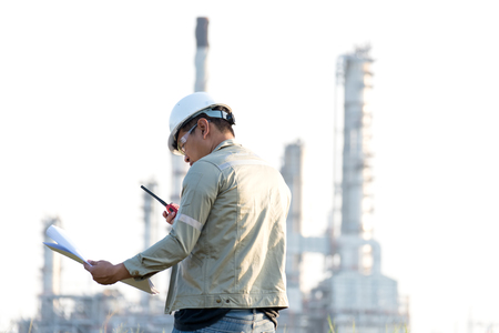 The man engineer at power plant, Thailand Foto de archivo