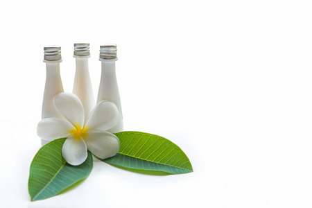 compress: Thai Spa Treatments and massage flower on wooden white background.  banner. lots of copy space.  Healthy Concept. Stock Photo