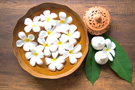 nails: Thai Spa massage compress balls, herbal ball and treatment  spa, relax and healthy care with flower, Thailand.  Healthy Concept. select focus