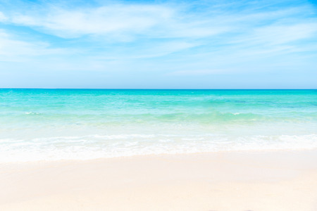 Summer Beach.  Empty sea and beach background with copy space.  Summer Concept
