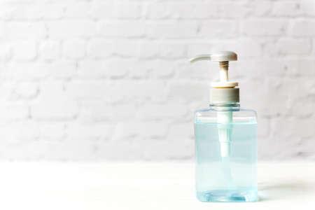 Hand Sanitizer alcohol gel for hand hygiene protection Coronavirus. Covid Virus.  Health Concept