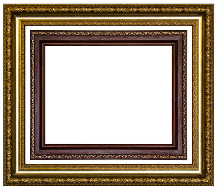 retro template old silver gold picture frame photo