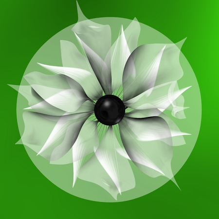 SHADED FLOWER AND TRAPPED IN A GREEN CIRCLE