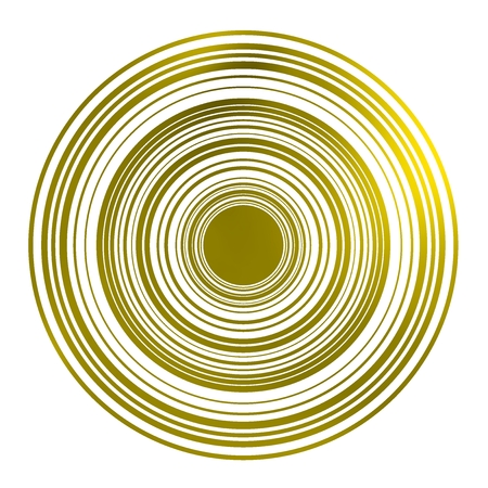 Vibrant geometric circle shape. Circle and circumference degraded by yellow glow