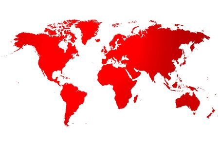 globe terrestre dessin: Global world map with different shades of color,