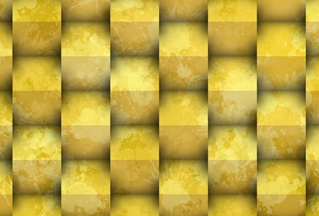 3d yellowish shadows over cubes