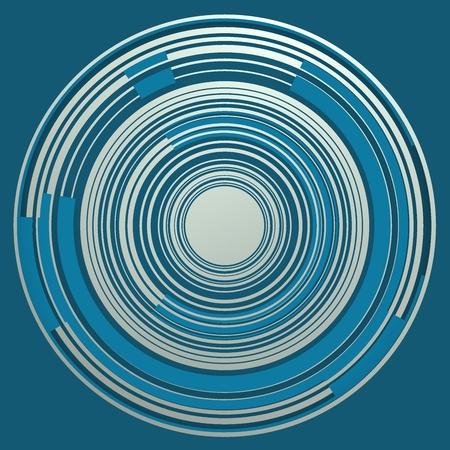 Concentric bluish circles.