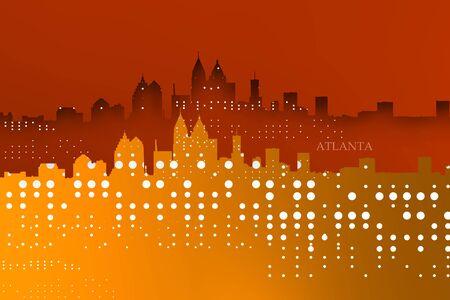 Lights of Atlanta skyline