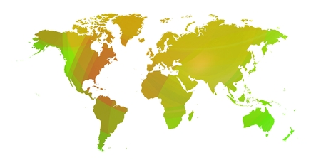 World map in colorist background.