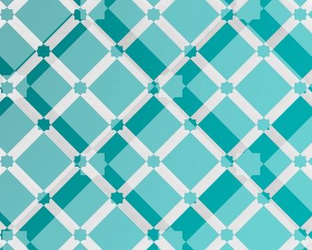 Imagen de composición geométrica azul de inspiración árabe y tendencia moderna.