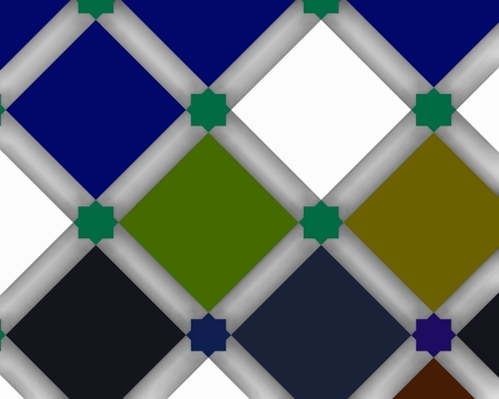 Colorist background inspired by traditional Arabic design Foto de archivo