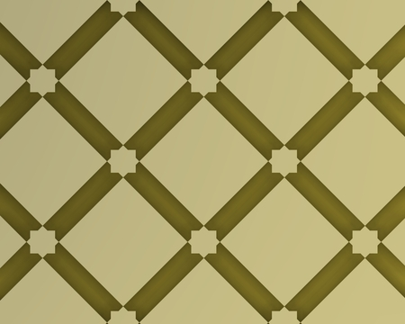 golden background inspired by traditional arabic decoration and architecture. Foto de archivo