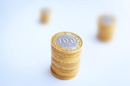 kazakh: Kazakh money - a hundred tenge Stock Photo