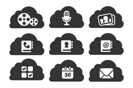 file types: Different file types stored in cloud