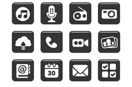 Stylish icon sets for website, mobile application or presentation Vector